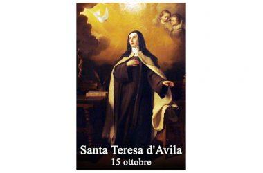 LA SANTA di oggi 15 Ottobre – Santa Teresa D'Avila