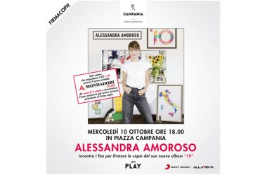 MERCOLEDì 10 OTTOBRE ORE 18 ALESSANDRA AMOROSO PRESENTA IL SUO NUOVO ALBUM