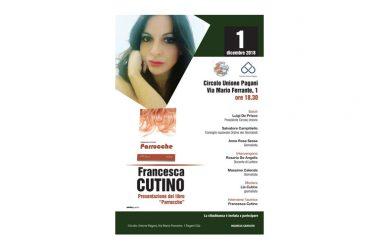 Al Circolo Unione di Pagani sabato pv ore 18,30 presentazione libro della giornalista Cutino