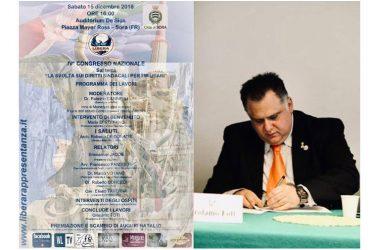 """IV° congresso Libera Rappresentanza, Girolamo Foti: """"Scriveremo insieme nuova pagina della storia"""""""
