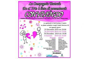 """Castel Morrone, La Compagnia """"I 7/4"""" presenta:  """"Convivendo"""" all'ex Largisi. 4 divertenti serate all'insegna della solidarietà"""