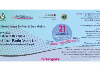 """Premio """"Raffaele Di Robbio"""" a Paolo Ascierto, la Onlus Angela Serra lo consegnerà il 21 dicembre a Faicchio"""