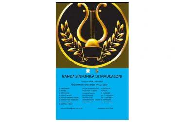 Maddaloni, Concerto di Natale a Santa Margherita questa sera con la Banda Sinfonica della Città