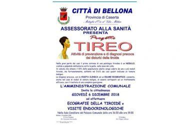 """Bellona. Successo dell'evento """"Progetto Tireo"""", attività di prevenzione e di diagnosi precoce dei disturbi della tiroide organizzata dall'assessorato alla sanità."""