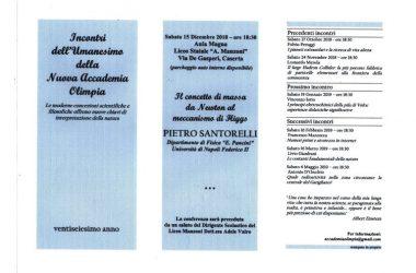 """Caserta – Conferenza del Prof. Pietro Santorelli del Dipartimento di Fisica """"E. Pancini"""""""