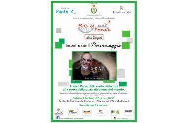 """Maddaloni, il Premio Bici & Parole  ospita Franco Pepe il """"re"""" della pizza"""