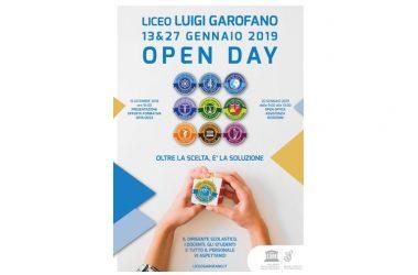 LICEO GAROFANO, DOMANI, DOMENICA 27 GENNAIO, OPEN DAY DALLE ORE 9,00 ALLE 18,00