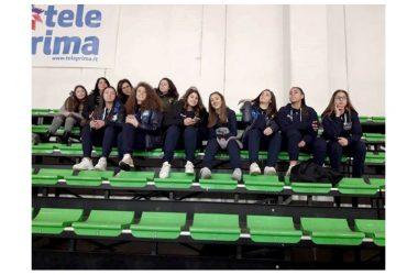 Le talentuose ragazze dell'Under 18 della Volalto 2.0 Caserta al Palavignola a sostenere le dragonesse rosanero