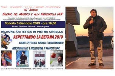 Mondragone. Con il Direttore Artistico Pietro Ciriello tutti in Piazza Falcone per Aspettare la Befana 2019