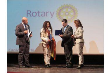 """Agnese Ginocchio in Sicilia ospite al progetto """"Il Rotary per la Pace"""" promosso dal Rotary Club Canicattì."""