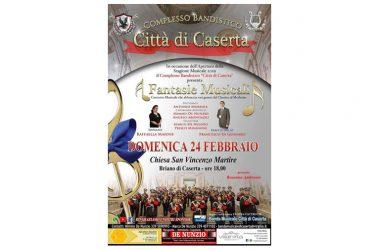 """CASERTA. LA BANDA MUSICALE """"CITTÀ DI CASERTA""""APRE DOMENICA LA STAGIONE ARTISTICA"""