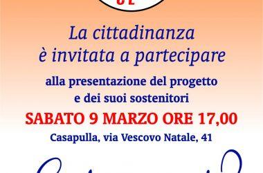 Presentazione del gruppo Casapulla C'è: appuntamento sabato in via Vescovo Natale