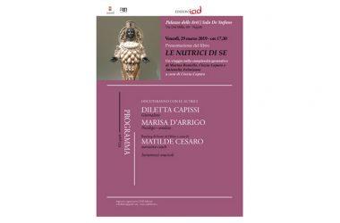 """Presentazione Libro """"le nutrici di se"""", 29 marzo ore 17,30 al Pan, via dei Mille 60"""