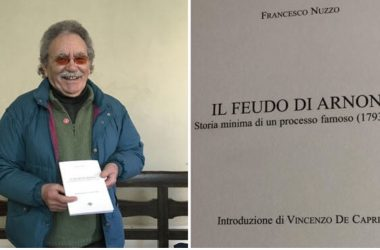 """Cancello ed Arnone: Francesco Nuzzo presenta la sua ultima """"fatica""""letteraria """"Il Feudo di Arnone – Storia minima di un processo famoso (1793-1818)""""."""