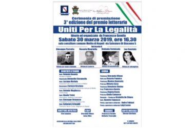"""Terza edizione del concorso letterario 'Uniti per la legalità"""". Gemito: """"Ricordiamo vittime innocenti'"""