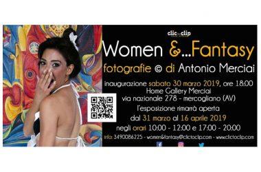Invito mostra Women & Fantasy di Antonio Merciai