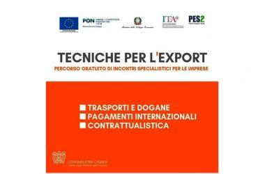"""CONFINDUSTRIA CASERTA SCENDE AL FIANCO DELL'ICE: DAL 7 MARZO PARTE """"TECNICHE PER L'EXPORT"""""""