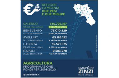 """FONDI AGRICOLTURA, ZINZI: """"CAMPANIA FELIX? CON QUESTO CENTROSINISTRA È SOLO SALERNO FELIX""""."""