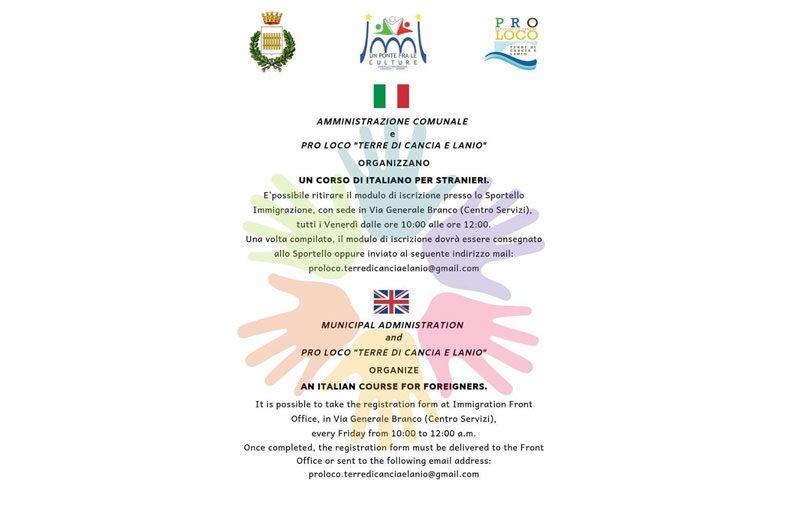 Impara l'italiano insieme a noi…a te la parola! Il corso è aperto a tutti ed è gratuito.