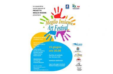 """Lunedì 10 Giugno alle ore 11 a Santa Maria Capua Vetere: conferenza stampa di presentazione della serata finale di """"Meglio Insieme – Art festival"""""""