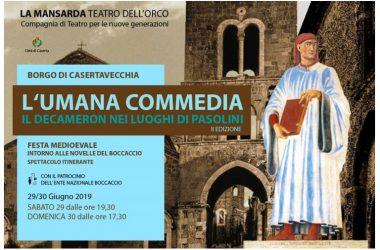 """"""" L'UMANA COMMEDIA– IL DECAMERON """"  nei luoghi di Pasolini"""