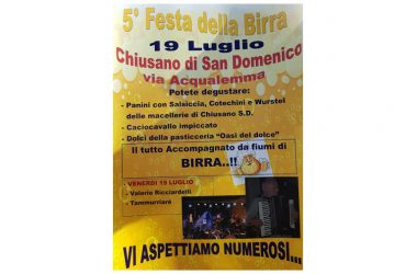 V Edizione della Festa della Birra a Chiusano San Domenico