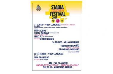 Stabia Summer Festival: tutto pronto per la kermesse in programma fino al 5 settembre