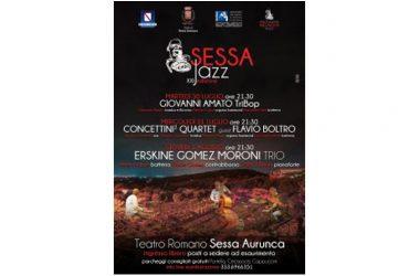 """Sessa Jazz 2019"""" XXI Edizione al Teatro Romano – 30 – 31 Luglio e 1 Agosto 2019"""