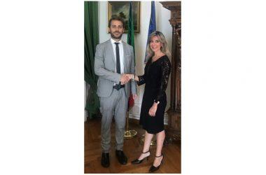 Marina Fontana incontra sottosegretario alla giustizia di Stato del Ministero della Giustizia Vittorio Ferraresi