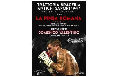 Caserta, Festa della Pinsa con il campione di pugilato Domenico Valentino, Dario Bianchi e Gigi Attrice