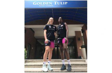 A Caserta, al Golden Tulip, due atlete straniere: Katharina Holzer schiacciatrice dall'Austria e Liannes Simon Castaneda, opposta cubana