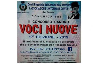 """AL VIA LA 17° EDIZIONE, ANNO 2019, DEL CONCORSO CANORO """"VOCI NUOVE"""""""