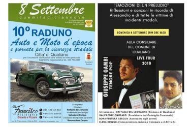 Doppio messaggio per la sicurezza: a Qualiano auto raduno e concerto in memoria di Alessandro Selvaggio e tutte le vittime della strada