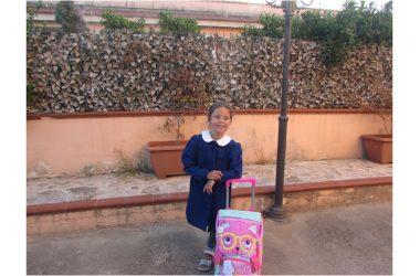 Sofia inizia la scuola primaria. Oggi primo giorno…emozioni a go go