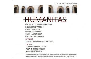 """Dal 13 settembre """"Humanitas"""" """"Incursioni d'arte"""" nel Chiostro Arte Contemporanea di Marcianise"""