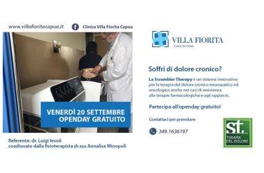VILLA FIORITA – DOLORE CRONICO, DOMANI VENERDÌ 20 OPEN DAY