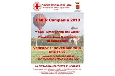 """""""EmerCampania 2019"""". Il Comitato di Croce Rossa di Santa Maria Capua Vetere – Curti a lavoro per l'esercitazione nazionale di emergenza del 1 novembre 2019."""