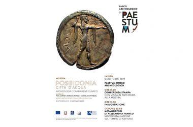 """Venerdì 4 ottobre 2019 alle ore 11:00 al Museo di Paestum – Conferenza Stampa con visita in anteprima alla mostra """"Poseidonia città d'acqua. Archeologia e cambiamenti climatici"""""""