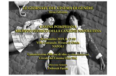 """A NAPOLI """"LE GIORNATE DEL CINEMA DI GENERE"""": PREMIO PIERO UMILIANI A PIETRA MONTECORVINO PER """"SUD"""" E OMAGGIO ALLA FACTORY DI RENZO ARBORE."""