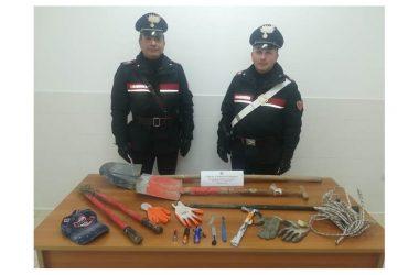 Arresto in flagranza di reato per tentato furto aggravato, di sei cittadini rumeni,