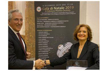 Il Premio Oroitaly alla dottoressa Maria Erminia Bottiglieri.