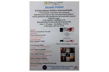 """CONVEGNO FEDERICO II 19 DICEMBRE """"IL NATURALISMO POLITICO INTERNAZIONALE"""""""
