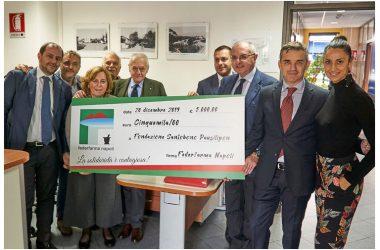 Federfarma Napoli dona al Pausilipon la somma per l'acquisto di un monitor destinato al reparto per il trapianto del midollo osseo.