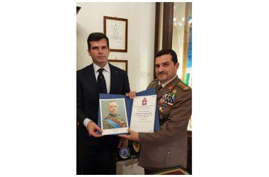 Napoli, premio Vittorio Emanuele III al Comandante della Nunziatella.