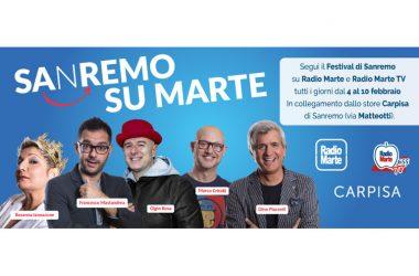 70° Sanremo: Radio Marte e Radio Marte Tv, in diretta dal Festival