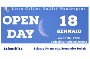CANCELLO ED ARNONE: Sabato 18 l'open day al Liceo Scientifico di Cancello ed Arnone.
