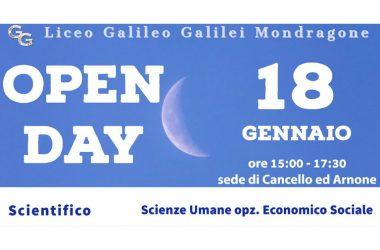 OPEN DAY AL GALILEO GALILEI SEDE DI CANCELLO ED ARNONE