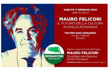 Mauro Felicori si presenta al mondo della cultura e al pubblico sabato 11 gennaio 2020 per le elezioni regionali | Teatro San Leonardo, Bologna