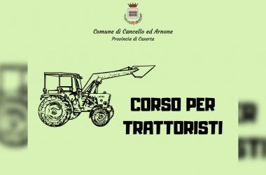 Cancello ed Arnone: lunedì 3 febbraio prima lezione del corso di formazione per trattoristi.