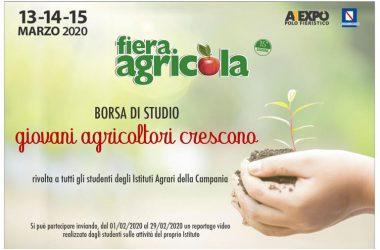 """""""Giovani Agricoltori Crescono"""", a Fiera Agricola una Borsa di Studio ed uno spazio espositivo gratuito per gli Istituti Agrari della Campania"""